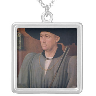 Portrait of Jean Lefevre de Saint-Remy Silver Plated Necklace