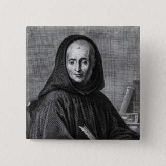 Portrait of Jean Mabillon  engraved by Alexis 15 Cm Square Badge