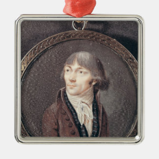 Portrait of Jean-Marie Collot d'Herbois Silver-Colored Square Decoration