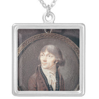 Portrait of Jean-Marie Collot d'Herbois Silver Plated Necklace