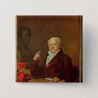 Portrait of Jean Nicolas Corvisart des Marets 15 Cm Square Badge