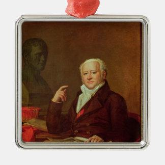 Portrait of Jean Nicolas Corvisart des Marets Silver-Colored Square Decoration