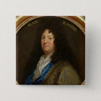 Portrait of Jean Racine 15 Cm Square Badge