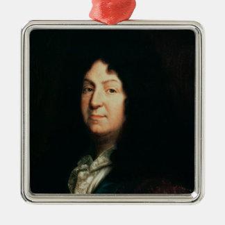 Portrait of Jean Racine  copy of an original Silver-Colored Square Decoration