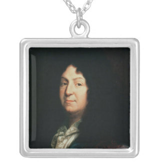 Portrait of Jean Racine  copy of an original Silver Plated Necklace