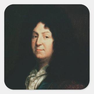 Portrait of Jean Racine  copy of an original Square Sticker