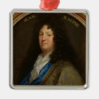 Portrait of Jean Racine Silver-Colored Square Decoration