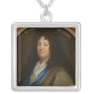 Portrait of Jean Racine Silver Plated Necklace