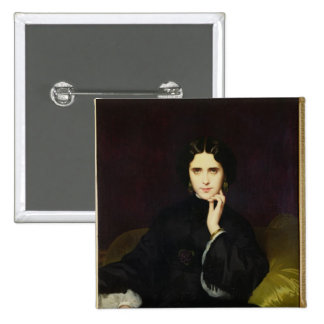 Portrait of Jeanne de Tourbay  1862 15 Cm Square Badge