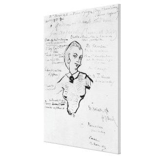 Portrait of Jeanne Duval Canvas Print