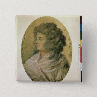 Portrait of Jeanne-Marie Roland de la Platiere 15 Cm Square Badge