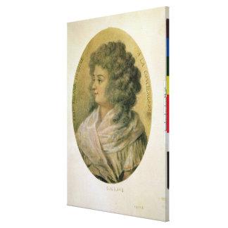 Portrait of Jeanne-Marie Roland de la Platiere Canvas Print