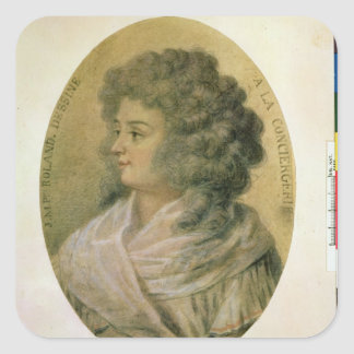 Portrait of Jeanne-Marie Roland de la Platiere Square Sticker