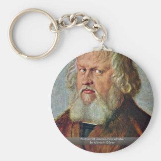 Portrait Of Jerome Holzschuher By Albrecht Dürer Basic Round Button Key Ring