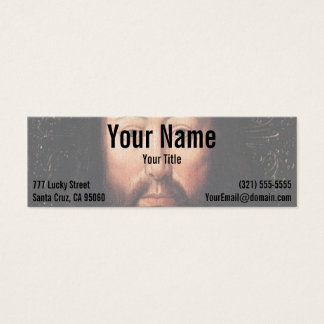 Portrait of Jesus Christ by Jan van Eyck Mini Business Card