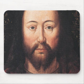 Portrait of Jesus Christ by Jan van Eyck Mousepad