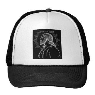 Portrait of Jesus Truckers Mesh Ball Cap Trucker Hat