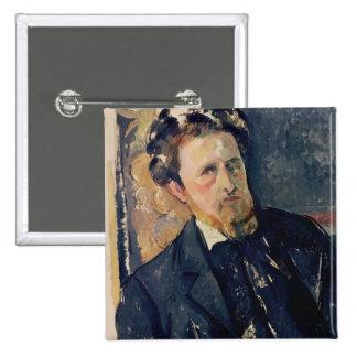 Portrait of Joachim Gasquet  1896-97 15 Cm Square Badge