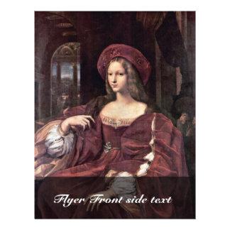 Portrait Of Joanna Of Aragon By Raffael Flyer Design