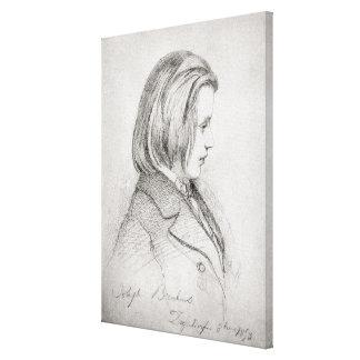 Portrait of Johanes Brahms  aged Twenty, 1853 Canvas Print