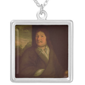 Portrait of Johann Ambrosius Bach , 1685 Silver Plated Necklace