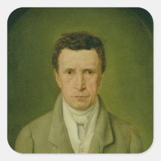 Portrait of Johann Friedrich Nikolaus Oldach Square Sticker