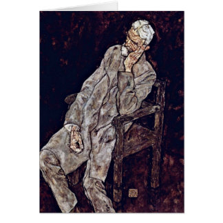 Portrait Of Johann Harms By Egon Schiele Card
