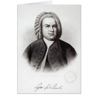 Portrait of Johann Sebastian Bach Card