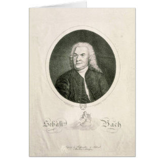 Portrait of Johann Sebastian Bach Greeting Card