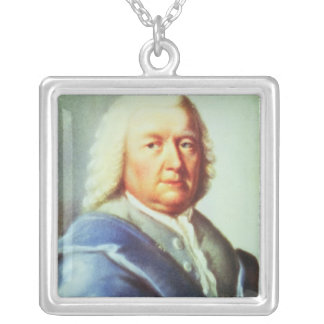 Portrait of Johann Sebastian Bach Silver Plated Necklace