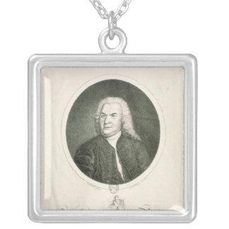 Portrait of Johann Sebastian Bach Square Pendant Necklace