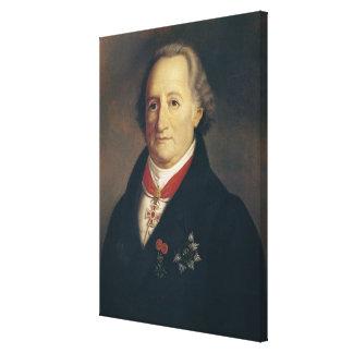 Portrait of Johann Wolfgang von Goethe Stretched Canvas Print