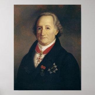Portrait of Johann Wolfgang von Goethe Poster