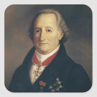 Portrait of Johann Wolfgang von Goethe Square Sticker