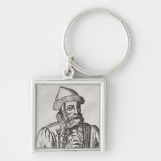 Portrait of Johannes Gutenberg Key Ring