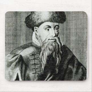 Portrait of Johannes Gutenberg Mouse Pad