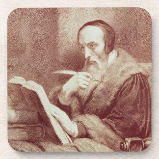 Portrait of John Calvin (1509-1564) (engraving) Beverage Coasters