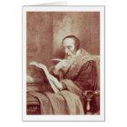 Portrait of John Calvin (1509-1564) (engraving) Card
