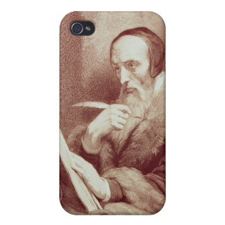 Portrait of John Calvin (1509-1564) (engraving) Cases For iPhone 4