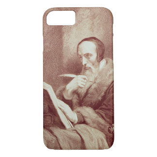 Portrait of John Calvin (1509-1564) (engraving) iPhone 7 Case