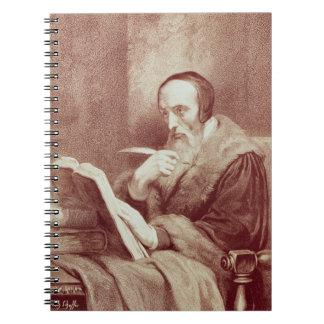 Portrait of John Calvin (1509-1564) (engraving) Notebook