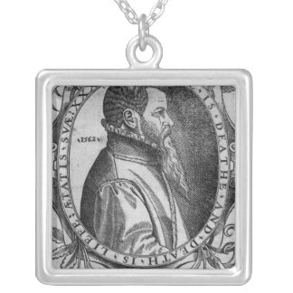 Portrait of John Day, frontispiece Silver Plated Necklace