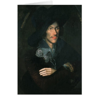 Portrait of John Donne, c.1595 Card