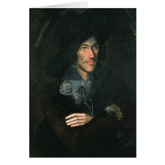 Portrait of John Donne c 1595 Greeting Cards