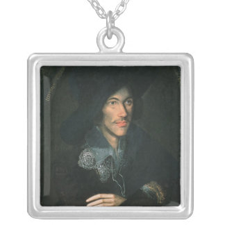 Portrait of John Donne, c.1595 Silver Plated Necklace