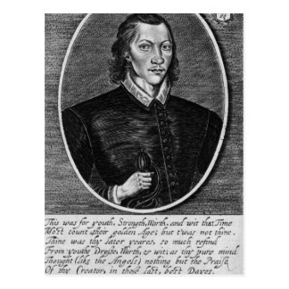 Portrait of John Donne Postcard