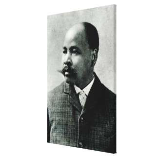 Portrait of John Dube Stretched Canvas Print