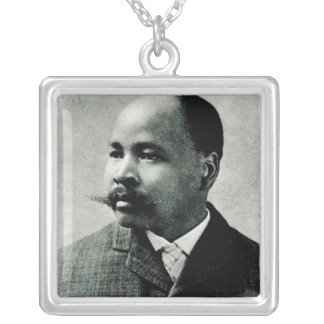 Portrait of John Dube Silver Plated Necklace