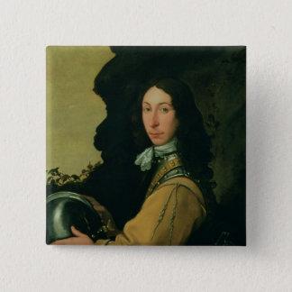 Portrait of John Evelyn 15 Cm Square Badge