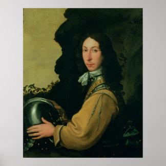 Portrait of John Evelyn Poster